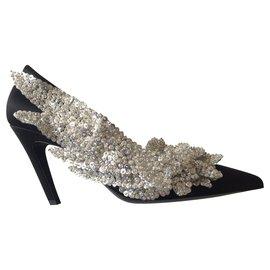 Balenciaga-Slash Balenciaga Heels-Black