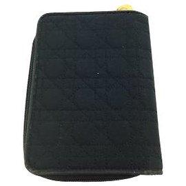 Dior-Portefeuille à deux volets Dior-Noir