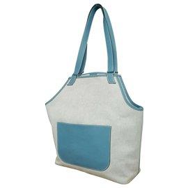 Hermès-Hermès Toile H-Bleu