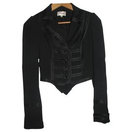 Temperley London-Military inspired tuxedo style jacket-Black