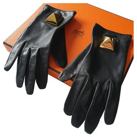 Hermès-Gloves MEDOR-Black