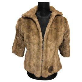 Fendi-Coats, Outerwear-Beige