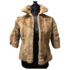 Fendi-Manteaux, Vêtements d'extérieur-Beige