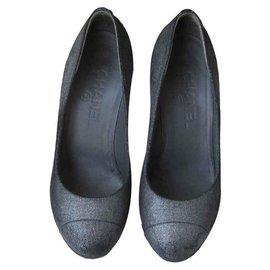 Chanel-Heels-Silvery