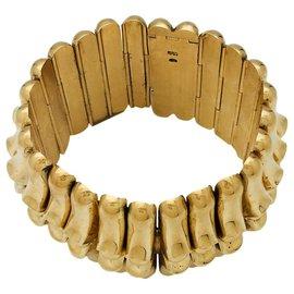 inconnue-Bracelet manchette en or jaune.-Autre