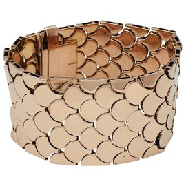 inconnue-Bracelet manchette vintage or rose.-Autre