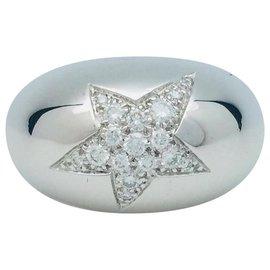 """Chanel-Bague Chanel, """"Comète"""", or blanc et diamants.-Autre"""
