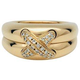 """Chaumet-Bague Chaumet, """"Liens"""", or jaune et diamants.-Autre"""