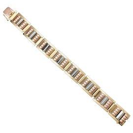 inconnue-Bracelet Tank, trois tons d'or.-Autre