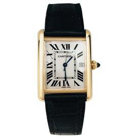 """Cartier-Montre Cartier """"Tank Louis Cartier"""" en or jaune.-Autre"""