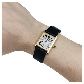 "Cartier-Cartier ""Tank Louis Cartier"" Uhr in Gelbgold.-Andere"