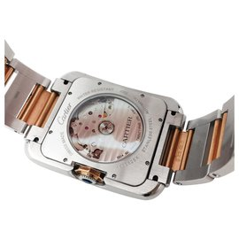 "Cartier-Cartier watch, ""English Tank XL"",  rose gold and steel.-Other"