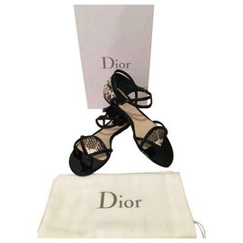 Christian Dior-Sandals-Black