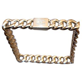 Chanel-Chanel bracelet gold square cruise 2015-Golden
