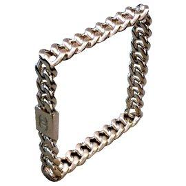 Chanel-Bracelet Chanel doré carré cruise 2015-Doré