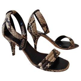 Céline-Céline Python sandals-Beige