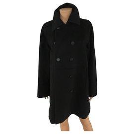 Hermès-Manteaux, Vêtements d'extérieur-Noir