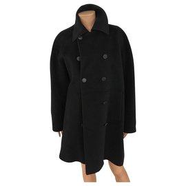 Hermès-Coats, Outerwear-Black