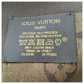 Louis Vuitton-Écharpe monogramme-Marron