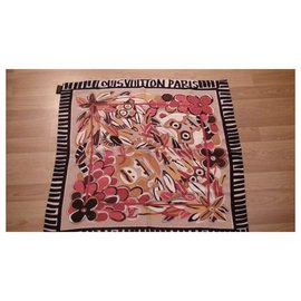 Louis Vuitton-Foulards de soie-Marron clair
