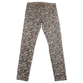 "The Kooples-Jeans ""Rétro"" The Kooples-Noir,Blanc"