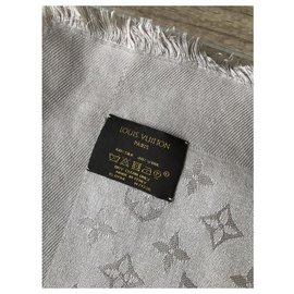 Louis Vuitton-Écharpe monogramme-Beige