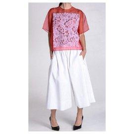 Céline-Pantalons, leggings-Blanc