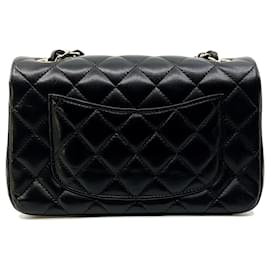 Chanel-Black small rectangualr TIMELESS 20x13, pale gold hardware-Black