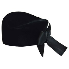 Yves Saint Laurent-Hats-Black