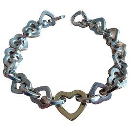 Tiffany & Co-Bracelet coeurs-Argenté
