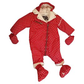 Ikks-IKKS jumpsuit girl or boy-Red
