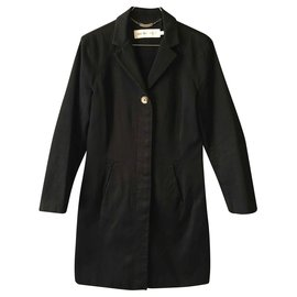 See by Chloé-See by Chloé black cotton trench coat-Black