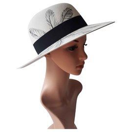 Maison Michel-Hats-Black,Eggshell