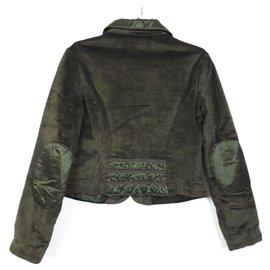 Patrizia Pepe-Patrizia Pepe Velvet Blazer Size 6yo green velvet-Dark green