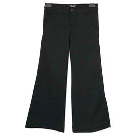 Ra-re-Pantalon pattes d'elephant-Noir