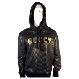 Gucci-Sweaters-Black,Golden
