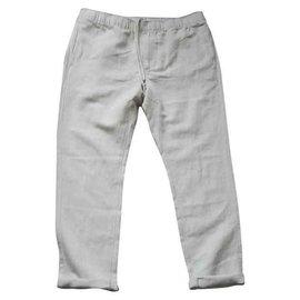 Autre Marque-Neuf Pantalon fluide taille XL VAL 109€-Beige,Gris