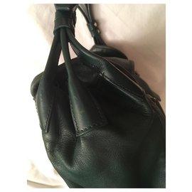 Balenciaga-Lamb leather bag-Dark green