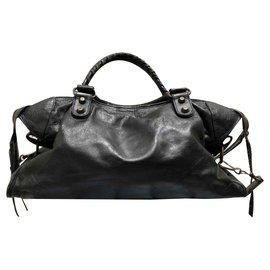 Balenciaga-balenciaga 100% Authentiques 2006 SAC MOTOCYCLETTE CLASSIC BLACK CITY-Noir
