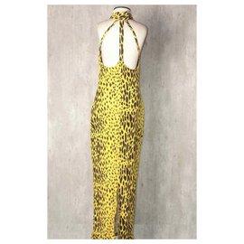 Versace-Leopard print maxi dress-Leopard print