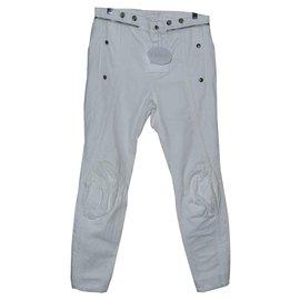 Chloé-Pantalons, leggings-Blanc