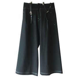 Yohji Yamamoto-Pantalons, leggings-Noir