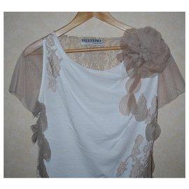 Valentino-Tops-White,Light brown