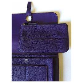 Hermès-Hermès DOGON Wallet-Purple