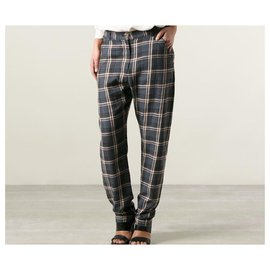 Isabel Marant-Pantalons, leggings-Blanc,Rouge,Multicolore,Gris