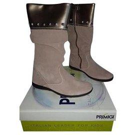 Autre Marque-Boots-Beige