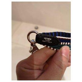 Hermès-Hermès shoulder strap-Black,Blue,Green