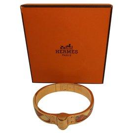 Hermès-Bracelet Hermès charnière savana dance-Multicolore