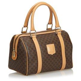 Céline-Macadam Boston Bag-Brown