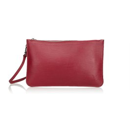 Louis Vuitton-Epi Pouch-Rouge